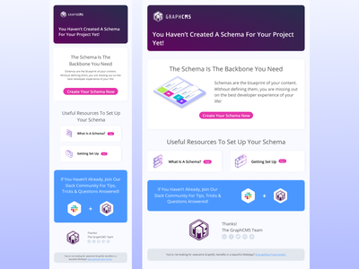 Getting Started Emails for GraphCMS marketing illustrations marketing api isometric coding headless cms cards graphcms graphql email campaign figma email template