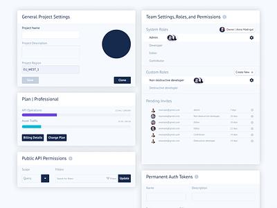 UI Cards | GraphCMS Web App cms refactoring ui cards ui design to code coding figma