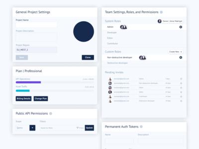 UI Cards | GraphCMS Web App