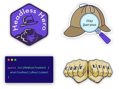 GraphCMS Stickers cms headless sherlock graphql code life code stickers