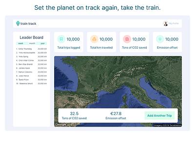 Hackathon App Design climate change logo modern modular app custom google map climate train framer product design hackathon
