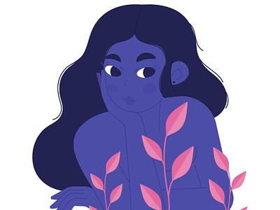Blueberry Girl vector illustration girl