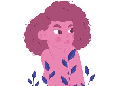 Berry Girl vector illustration girl