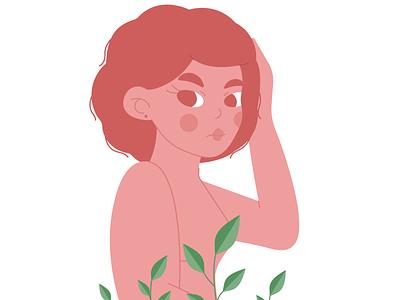 Orange Girl vector illustration girl