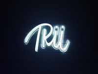 developed a neon sign for Trüffle brand.