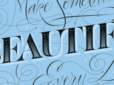 Beautiful lettering print poster