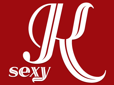 Sexy K typeface font display inline