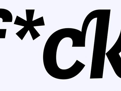 so what's a little implied profanity here & there ligatures sans able italic