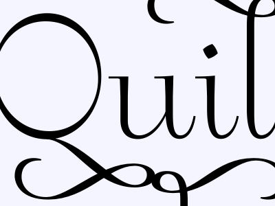 Quilting hackers & Christian Rockcandy serif swashy announcement
