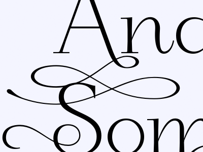 And Now For Something Completely Excessive swash loop typeface alternates