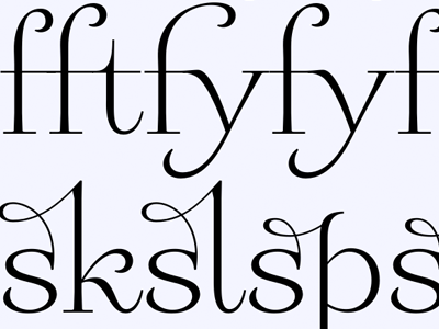 Liga-what?! Liga-who?! serif swashy announcement ligatures