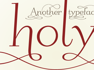 holy crap! pending release typeface swashy