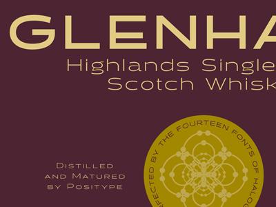 Halogen 'Scotch' Label halogen typeface specimen