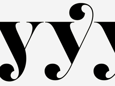 Alternate y's serif display type development