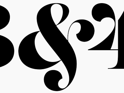 and 1 and 2 and 3 and 4 serif display type development alternates