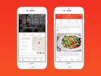 Yummzy - Food Locator [iOS App Concept]