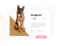 Nike Doggie Boost - Antiproduct Page shepherd german woof shoe design marian fusek product modal interface ui nike dog