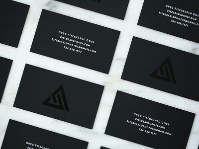 Fitzgearld Photography Business Cards black foil business cards graphic design