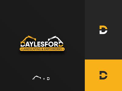 Logo for Daylesford Landscaping & Earthworks spoon excavator letter d logo design concept agency works work landscaping company icon typography illustration design logo