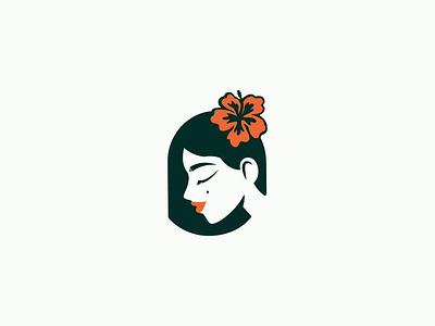 Logo for Hula Girl aloha hawaii girl hula girl flower colorful natural icon vector typography illustration design logo
