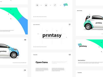 Printasy - Branding Design printing branding company agency icon typography design logo