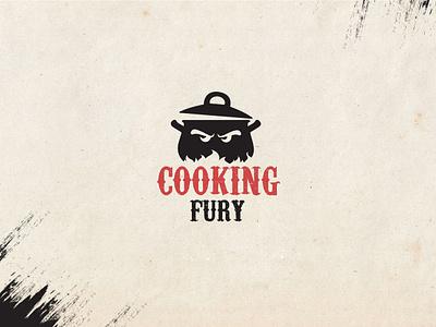 Logo for Cooking Fury logo design branding logo design concept cooking logo typography advertising vector agency design illustration logo