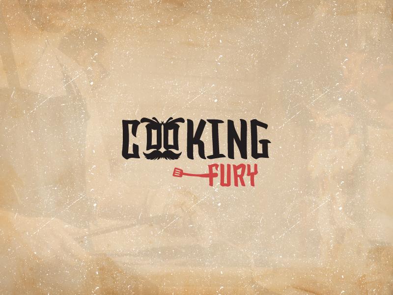 Logo for Cooking Fury fury cooking branding web vector typography illustration design logo