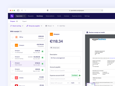 ↪️🏀 Rebound of the new Prepare tab animation branding bank payment fintech design system clean dropdown table dashboard logo illustration design website interface web product app ui ux