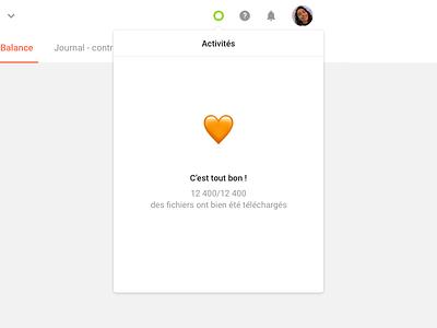 C'est tout bon ! 🧡 minimal download app ui ux interface dashboard product web website modal popin