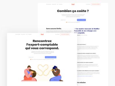 freddelacompta.com redesign services page