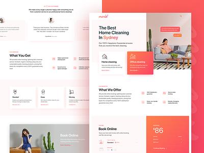 Australian cleaning company minimal website ui ux typography branding design