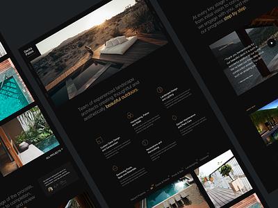Decks&Patios landscape architecture architechture webdesign typography minimal branding design sketchapp ux ui