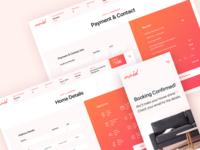 Online Booking checkout page payment minimal service calculator online booking mobile webdesign typography design sketchapp ux ui
