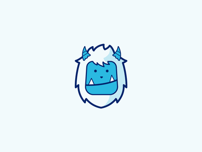 Yeti flat fun modern abstract playful mascot icon vector logo