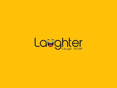 Laughter flat fun playful mascot logo