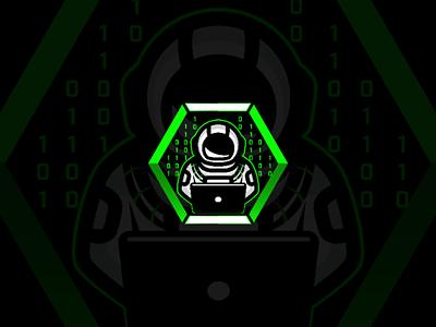 Astronaut Code games software coding programming space vector mascot