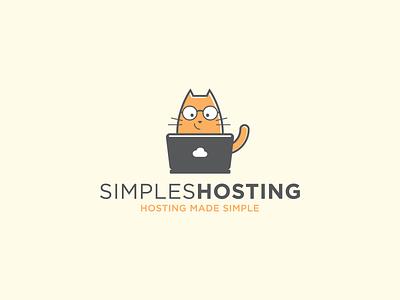 Simple Hosting logo illustration flat fun animal modern playful mascot icon vector logo