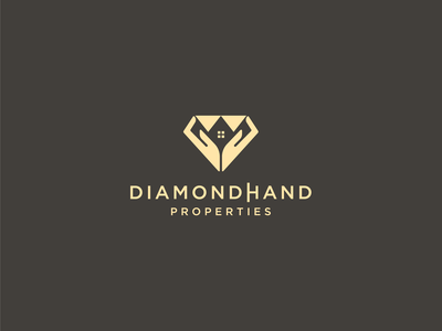 Dimaond Hand luxury diamond properties real estate logo abstract modern vector logo