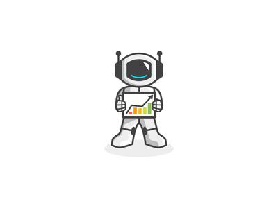 Digital Marketing Mascot Logo logos mascot digitalmarketing bot robot