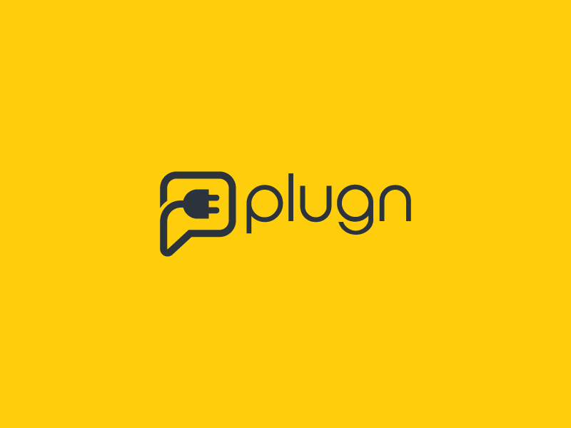 Plugn logo icon chat plug-in vector modern flat