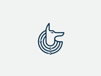 Anubis Tech Logo vector logos icon modern flat animal abstract