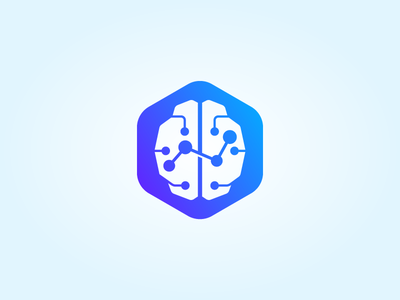 Digital Brain chart digital brain modern abstract icon vector logo