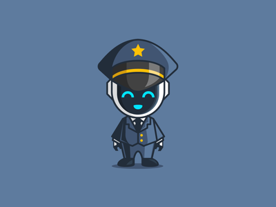 Robot Pilot clouds plane pilots vector icon logo modern playful mascot