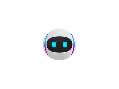 Bot icon robot fun modern playful mascot icon vector logo