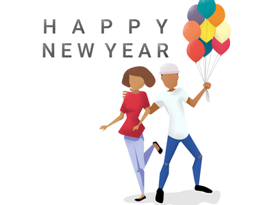 Happy new year graphic art graphic design art illustration illustrator art illustration art