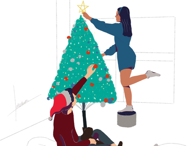 Last Minute Touch Up weloveillustrator illustrator illustration christmas merry christmas
