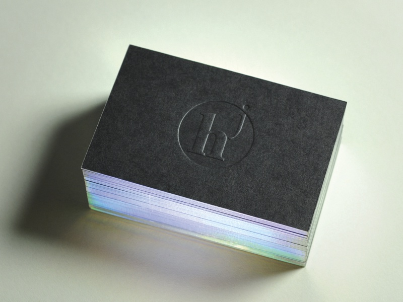 Julien Hauchecorne Business card logo stationery business card branding print foil blocking hot foil stamping brand identity corporate identity visual identity