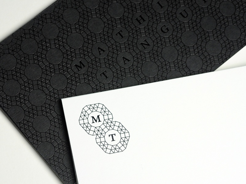 Mathias Tanguy 13 Copy logo stationery compliment slips branding print metal etching foil blocking hot foil stamping brand identity pattern corporate identity visual identity