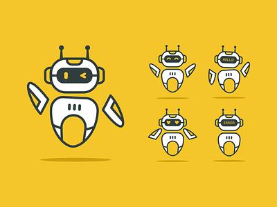SET ROBOT awesome logo robot logo indonesia designer logobrand behance logoart logoroom icon dribbble robot logoplace logodesigner logo