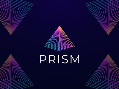 PRISM logodesigner logobrand logoart logoroom colorful logo logoawesome app icon prism geometric abstract logo logoshift behance logos dribble